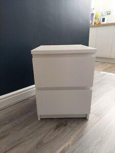 Ikea malm drawers white