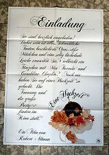 EINE HOCHZEIT / A WEDDING * A1-FILMPOSTER Motiv C - German 1-Sheet ´79 ALTMAN