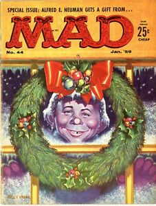 Mad   #44    January 1959   VF+   Special Issue Alfred E. Neuman gets a Gift