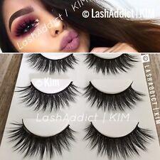 💕 3 GLAM Mink Lashes 3D Eyelashes 💕 Siberian Fur Makeup Extension | US SELLER