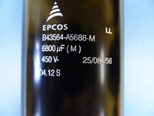 EPCOS  B43564-A5688-M Qty of 1 per Lot COND EL SCREW TERM 6800UF 450V