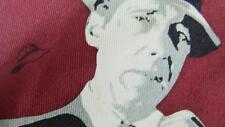 RALPH MARLIN RED BLACK MAN HUMPHREY BOGART NECKTIE TIE MJN0217B #E35