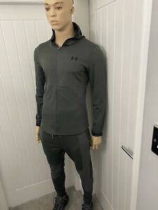 under armour Tracksuit Grey Medium Men's Full Zipped Jacket Pants bnwt £84.99