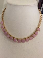 $98 KATE SPADE New York 'Squared Away' Lilac Square Stone Go Necklace #150K