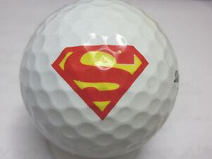 1 Dozen (Superman LOGO) Callaway Chrome Soft Mint Golf Balls # 1 Ball In Golf!