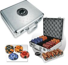 Harley Davidson Skull Poker Set 69777 w/ FREE Shipping