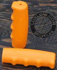 Orange Vintage Schwinn Bicycle Oval Rubber Grips Cruiser Bike Handlebar Phantom