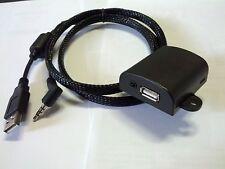 iPhone iPod USB + video 4 pin adapter panel Alpine Pioneer Kenwood JVC