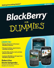 NEW BlackBerry For Dummies by Robert Kao