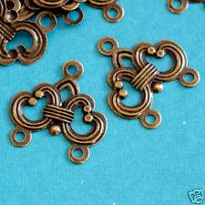 50ps Antique Bronze Filigree Fix Links A089