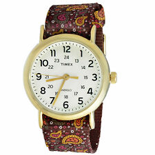 "Timex TW2P81200, Women's ""Weekender"" Paisley Fabric Watch, Indiglo, TW2P812009J"