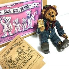 Boyds Shoe Box Bears Elias The Elf Grizberg 3206 Fully Jointed Figurine with Box