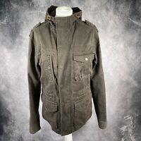 FAT FACE Green Khaki Hooded Jacket Coat Military Women's Fatface XS