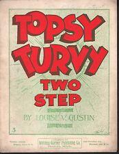 Topsy Turvy 1899 Large Format  Sheet Music Sheet Music