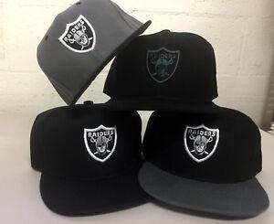 Las Vegas Raiders Snap Back Cap Hat Embroidered Adjustable Flat Bill Oakland Men