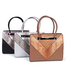 Damen Handtasche Henkeltasche Schultertasche  Umhängetasche Tasche 5059-2