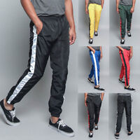 Men's Striped Drawstring Sports Workout Windbreaker Track Pants S~5XL  TR573-E7F
