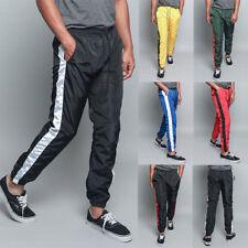 Men's Striped Drawstring Sports Workout Windbreaker Track Pants S~5XL  TR573-E7F