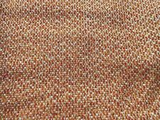 Mid Century Modern 60's VINTAGE ORANGE Brown Cream Tweed Fabric Upholstery Craft