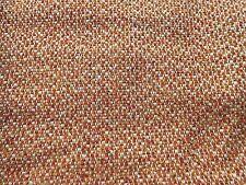 Mid Century Modern 60's VINTAGE ORANGE Brown Cream Tweed Fabric Upholstery Craft