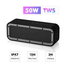 Portable TWS Wireless bluetooth Speaker Waterproof Stereo Radio  Ultra Deep Bass
