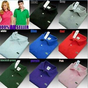 NEW Men's Vintage Lacoste 100% Cotton Short Sleeve Polo Slim Fit T-Shirt 2XL