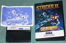 """Sega Master System Pal gioco """"Strider II"""" con custodia + libretto d'istruzioni"""