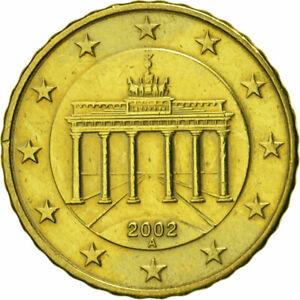 [#466337] République fédérale allemande, 10 Euro Cent, 2002, TTB, Laiton, KM:210