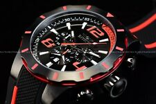 NEW Invicta Men's 53mm S1 Rally Racer Red & Black Silicone Strap Watch