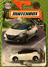 Matchbox Nissan Leaf White New On Card 2019