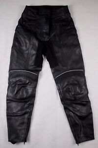 *UK 10/36* Dynamic Black Leather Womens Motorcycle Trousers