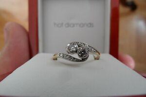 Brillantring Eleganter Damen Goldring in 585 mit Diamanten in ca 0,30 Karat
