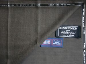 100% SUPER 130's WOOL WORSTED SUITING FABRIC MADE IN ENGLAND- 2.05+1.8= 3.85 m