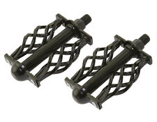 """ORGINAL! Twisted Pedals With Cage 1/2"""" Black Bike Pedal Cruiser Chopper Lowrider"""