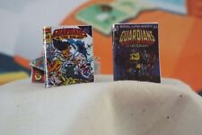 2 Miniature Opening ' Guardians of the Galaxy ' Comics - Dollhouse 1:12 scale