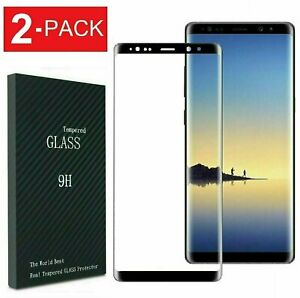 2-Pack Case Friendly Tempered Glass Screen Protector For Galaxy S8 Plus Note 8 9