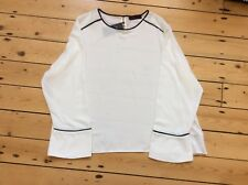 M&S WOMENS WHITE BLOUSE / TOP Size 24 Plus Size Office BNWT