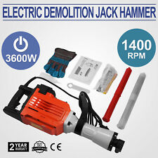 3600W Construction Demolition Jack Hammer Electric Concrete Breaker 2 Chisel Bit