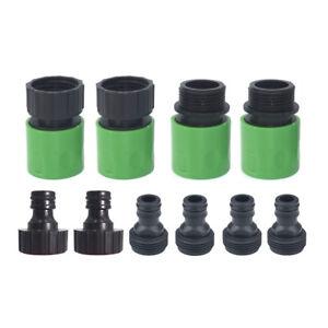 10Pcs Garden Hose Quick Connect Plastic Hose Tap Adapter Kit Set Connector