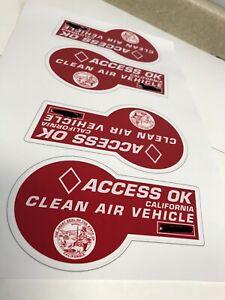 NOVELTY HOV Carpool Laptop Sticker Red (2019) Seal Quality 3M Tesla