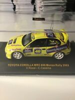 IXO 1/43 Monza Rally Valentino Rossi Toyota Corolla WRC Rollingstone Diecast