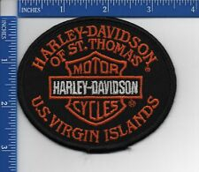 Authentic HARLEY DAVIDSON dealer patch: HD of St. Thomas U.S. Virgin Islands NOS