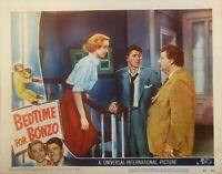 BEDTIME FOR BONZO (1951) CLASSIC RONALD REAGAN ORIG 11X14 LOBBY CARD !