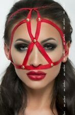 Red Black White Dog Mask erotic Ladies Face mask Face wear Kinky Fancy dress