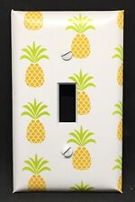PINEAPPLES LIGHT SWITCH COVER PLATE YELLOW KITCHEN COUNTRY ISLAND DECOR FRUIT
