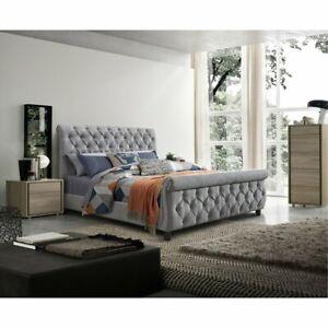 layla Upholstered Bed Frame Storage Bed