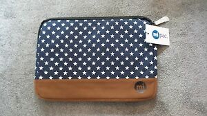 Mi Pac Navy Star Patterned Laptop 11.5 x 16in Case Brand New RRP £24.99