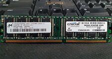 CRUCIAL CT8VDDT6464AG-335C1 Memory 512MB PC2700u  DDR 333MHz 180-Pin DIMM