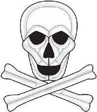 Beveled Glass Skull & Cross Bones Bevel Cluster Ec863