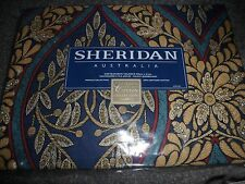 Sheridan blue and brown cotton blouson valance 250cm x 41 cm